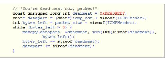 Quellcode des Programms Rawping