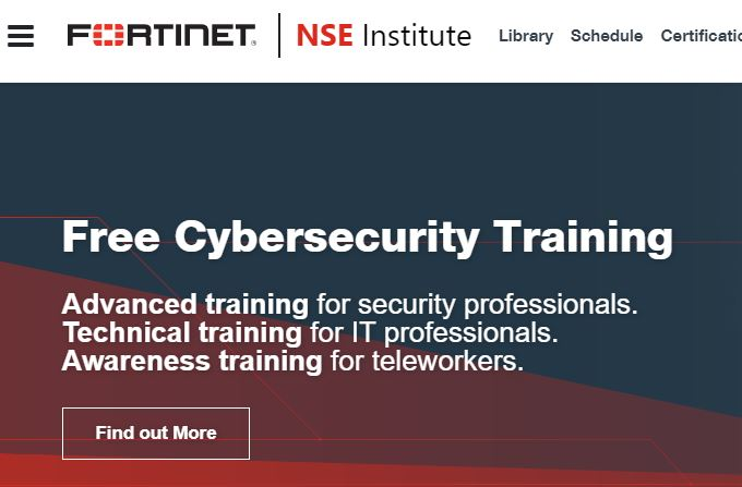 Kostenlose Security-Trainings von Fortinet